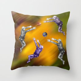 Abstract ball fight Throw Pillow