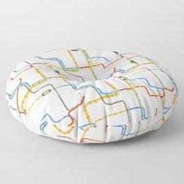 Subway Floor Pillow