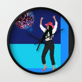 disco dance diva Wall Clock