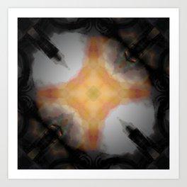 Water Rust Pattern 002 Art Print