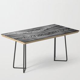 Linocut Tribal Pattern Coffee Table