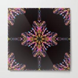 Titanium Quartz with a geometric kaleidoscopic design Metal Print