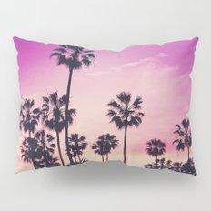 Sunset Palms Purple Tropical Sky Pillow Sham