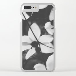 Dogwood Blossom Clear iPhone Case