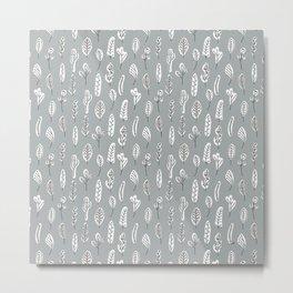 Flora | Ultimate Gray Metal Print