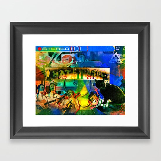 """I Hate Music"" by Cap Blackard Framed Art Print"