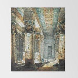 Tempel Dendera Throw Blanket