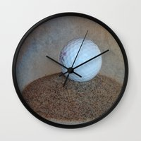 golf Wall Clocks featuring Golf by LoRo  Art & Pictures
