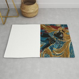 Usagi and the Starry Night Rug