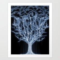 tree of lightings Art Print