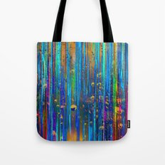 Colored Rain Tote Bag