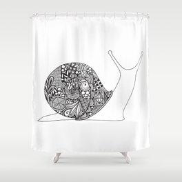 Dawdling Doodle Shower Curtain