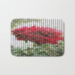 Red Rose with Light 1 Mosaic Bath Mat