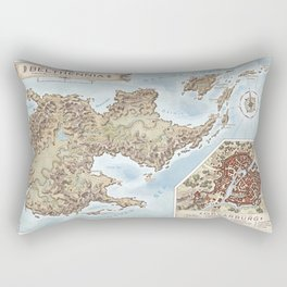 Belthennia - a map of its Independent Territories Rectangular Pillow