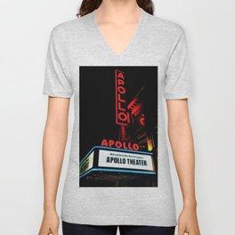 Harlem's Apollo Theater Portrait Painting Unisex V-Neck
