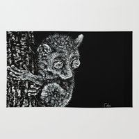philippines Area & Throw Rugs featuring Bohol Tarsier from the Philippines by Nathan Cole