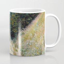 1882-Claude Monet-Road at La Cavée, Pourville-60 x 81 Coffee Mug