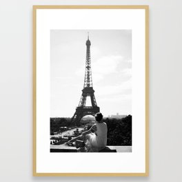 Morning in Paris by the Eiffel Tower Framed Art Print