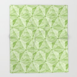 Geodesic Palm_Green Throw Blanket