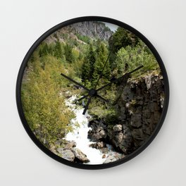 Headwaters of the Mighty Uncompahgre River Wall Clock