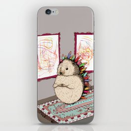 Hedgehog Artist iPhone Skin