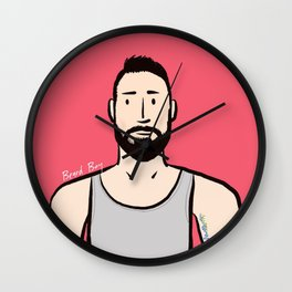 Beard Boy: Jaume Wall Clock