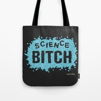 science Tote Bags featuring Science! by Geekydog