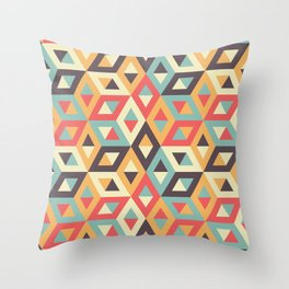 Pastel Geometric Pattern Throw Pillow