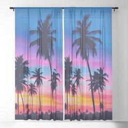 PALM-TREE-SUNSHINE Sheer Curtain