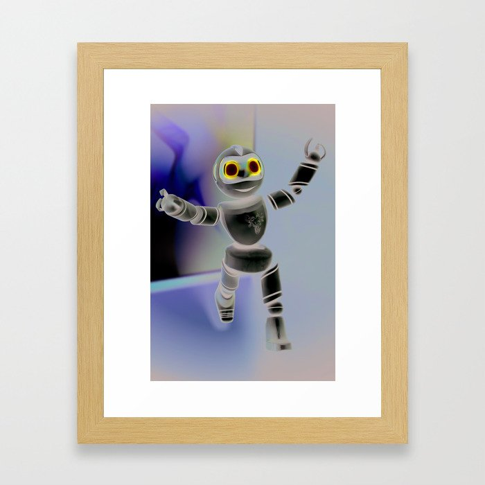 Baby Heart-Robot Framed Art Print
