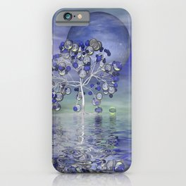 full moon in a world of glass iPhone Case
