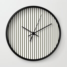Garden Boot Grey Pinstripe on White Wall Clock