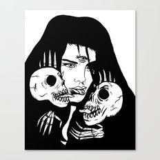 Lady Death Trip Canvas Print
