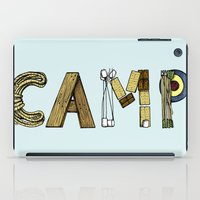 camp iPad Cases featuring CAMP. by AnnieInk