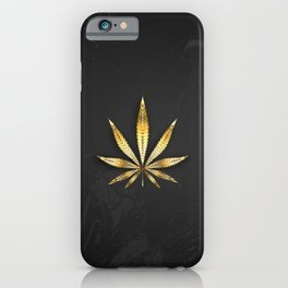 Gold Leaf Cannabis iPhone Case