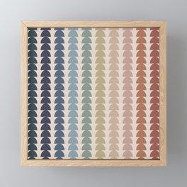 Maude Pattern- Vintage Multicolor Framed Mini Art Print