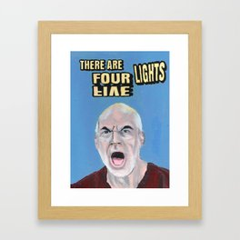 There Are Four Lights Framed Art Print