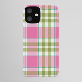 Pink Green Madras Plaid iPhone Case
