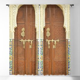 Ornate Moroccan Door Blackout Curtain