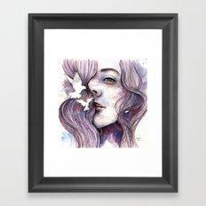 Dreams of freedom, watercolor artwork Framed Art Print