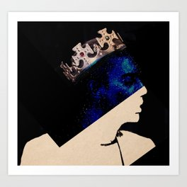 King portrait Art Print