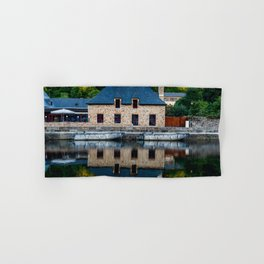 The harbour of Dinan in Brittany Hand & Bath Towel