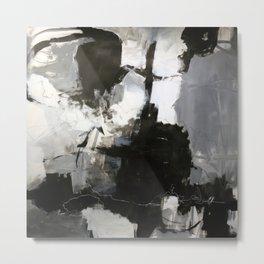 Buoyant in Black and White Metal Print