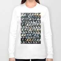 quilt Long Sleeve T-shirts featuring Commuter Quilt by anne m bray