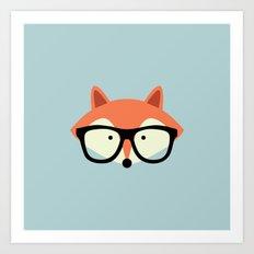 Hipster Red Fox Art Print