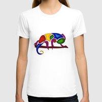 chameleon T-shirts featuring Chameleon by Aleksandra Mikolajczak