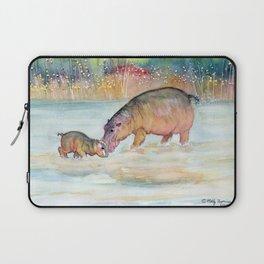 Hippopotamus Laptop Sleeve