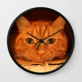Cat in a Bag Wall Clock