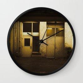 Parking Garage Shadows Wall Clock