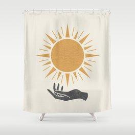Sunburst Hand Shower Curtain